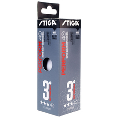 Stiga Perform 3-star ABS 3-pack White
