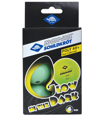Donic Glow in the dark Poly 40+ 6pcs
