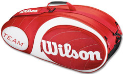 Wilson Team 6PK Bag RD/WH