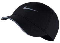 Nike Dry Aerobill Feather Light Cap Run Black