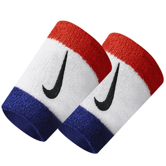 Nike Swoosh Double Wide Wristband Red/Black N0001586620OS-620