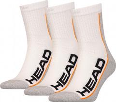Head 3P Stripe Short Crew White / Grey / Orange