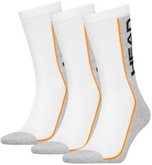 Head Performance Crew 3P White/Grey/Orange