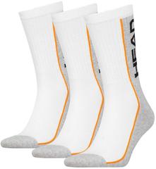 Head Performance Crew 3P White / Grey / Orange