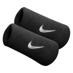 Nike Swoosh Double Wide Wristband Black NNN05101OS DUPLICATED