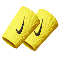 Nike Swoosh Double Wide Wristband Yellow N0002466735OS