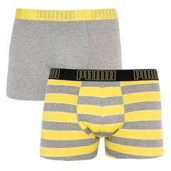Трусы Puma Statement Boxer 2-pack Gray/Yellow