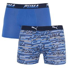 Трусы Puma Logo AOP Boxer 2-pack Blue