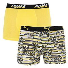 Трусы Puma Logo AOP Boxer 2-pack Yellow/Gray